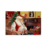 Santa's Ital Greyhound Rectangle Magnet (10 pack)