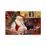 Santa's Ital Greyhound Rectangle Magnet