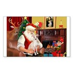 Santa's Ital Greyhound Sticker (Rectangle 50 pk)