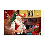 Santa's Ital Greyhound Sticker (Rectangle)