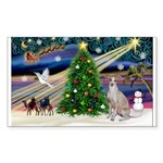XmasMagic/Ital.Greyt1 Sticker (Rectangle 50 pk)