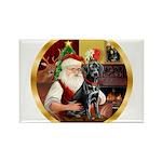 Santa's Lab (blk)#1 Rectangle Magnet (10 pack)