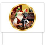 Santa's Lab (blk)#1 Yard Sign