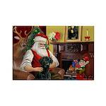 Santa's Black Lab Rectangle Magnet (10 pack)