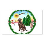 Take Off1/Lab (choc) Sticker (Rectangle 10 pk)