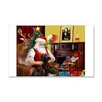 Santa's Chocolate Lab Car Magnet 20 x 12
