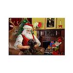 Santa's Chocolate Lab Rectangle Magnet (10 pack)