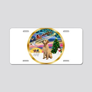 XmasMagic/Lab (yllow) Aluminum License Plate