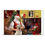 Santa's Yellow Lab #7 Sticker (Rectangle 50 pk)