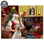 Santa's Yellow Lab #7 Puzzle