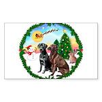Take Off1/2 Labs(cho/blk) Sticker (Rectangle 50 pk