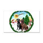 Take Off1/2 Labs(cho/blk) Rectangle Car Magnet