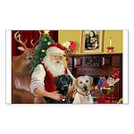 Santa's 2 Labs (Y+B) Sticker (Rectangle)
