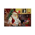 Santa's Maltese Rectangle Magnet