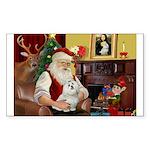 Santa's Maltese Sticker (Rectangle)