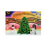 XmasMusic 2MC/Newfie Rectangle Magnet (10 pack)