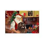 Santa's Newfoundland Rectangle Magnet (10 pack)