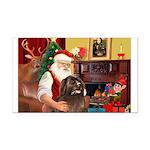 Santa's Newfoundland Rectangle Car Magnet