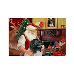 Santa's Newfie (L) Rectangle Magnet