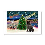 Xmas Magic/Newfie (#2) Car Magnet 20 x 12