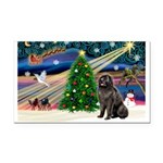 Xmas Magic/Newfie (#2) Rectangle Car Magnet