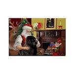 Santa's Newfie Rectangle Magnet (10 pack)