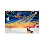 XmasSunrise/Norwich Ter Rectangle Magnet (10 pack)