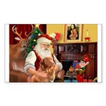 Santa/Nova Scotia Dog Sticker (Rectangle 50 pk)