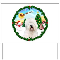 Old English Sheepdog Yard Sign