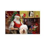 Santa's Old English #5 Rectangle Magnet