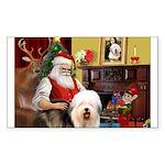 Santa's Old English #5 Sticker (Rectangle)