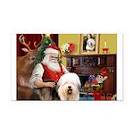 Santa's Old English #5 Rectangle Car Magnet