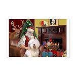 Santa's Old English #6 Rectangle Car Magnet