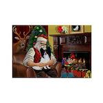 Santa's Papillon Rectangle Magnet (10 pack)