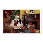 Santa's Papillon Sticker (Rectangle 50 pk)