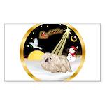 Night Flight/Pekingese Sticker (Rectangle 10 pk)