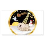 Night Flight/Pekingese Sticker (Rectangle)
