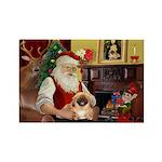 Santa's Pekingese Rectangle Magnet (10 pack)