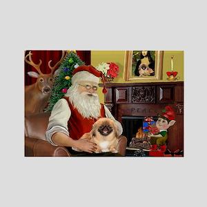 Santa's Pekingese Rectangle Magnet