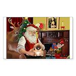 Santa's Pekingese Sticker (Rectangle 50 pk)