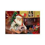 Santa's 2 Pekingese Rectangle Magnet