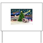 XmasMagic/ Pekingese Yard Sign