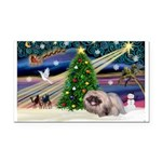 XmasMagic/ Pekingese Rectangle Car Magnet
