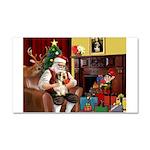 Santa's Petit Basset Car Magnet 20 x 12