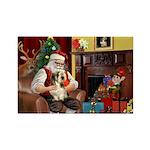 Santa's Petit Basset Rectangle Magnet (10 pack)