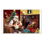 Santa's Petit Basset Sticker (Rectangle 50 pk)