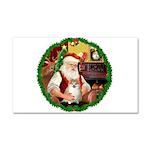 Santa's Pomeranian #1 Car Magnet 20 x 12