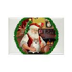 Santa's Pomeranian #1 Rectangle Magnet