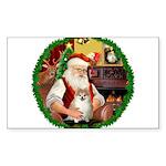 Santa's Pomeranian #1 Sticker (Rectangle 10 pk)
