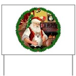 Santa's Pomeranian #1 Yard Sign